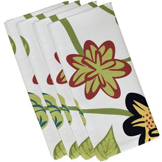 19-inch x 19-inch Tropical Floral Floral Print Napkin