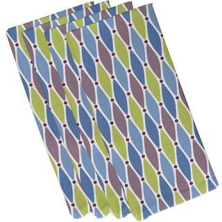 19-inch x 19 inch Wavy Splash Geometric Print Napkin