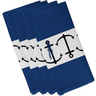 19-inch x 19-inch Anchor Stripe Stripe Print Napkin