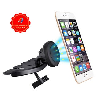 Car Mount, VicTec Universal MagGrip CD Slot Magnetic Car Mount Holder (Black)