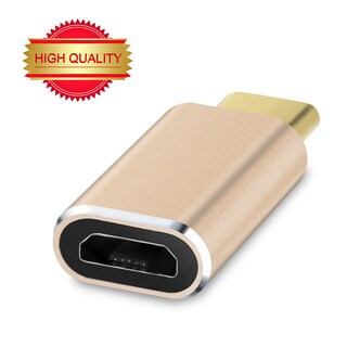 VicTec Reversible Design USB Type-C (Male) to Micro USB (Female) Convert Connector Adapter - Gold