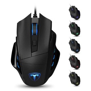 6400 DPI Programmable Laser Gaming Mouse with 7 Adjustable Buttons, LED Backlight, and Weight and Balance Tuning for PC