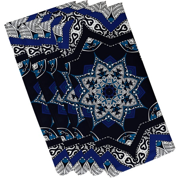 19-inch x 19-inch Shawl Geometric Print Napkin