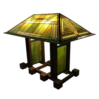 Micasa 4-light Green House 25-inch Tiffany-style Table Lamp