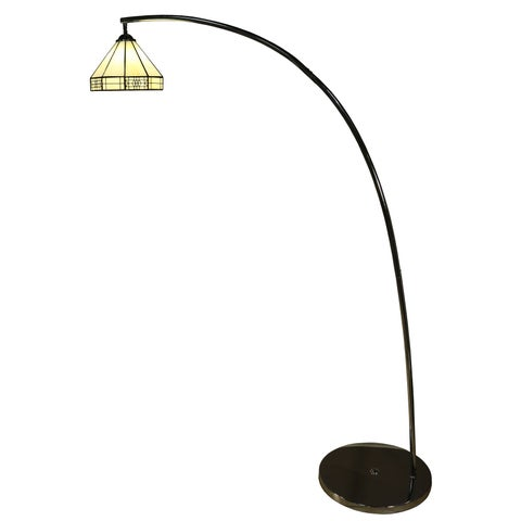 Brenda 1-light Off-white 64-inch Tiffany-style Mission-style Floor Lamp