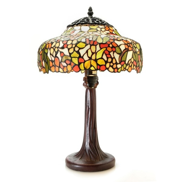 Paloma 1-light Multi-color Tree 12-inch Tiffany-style Table Lamp