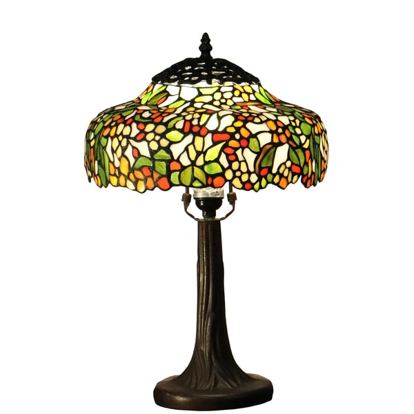 Paloma 1 light multi color tree 12 inch tiffany style for 12 inch table lamp