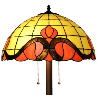 Medina 2-light Orange 62-inch Tiffany-style Floor Lamp
