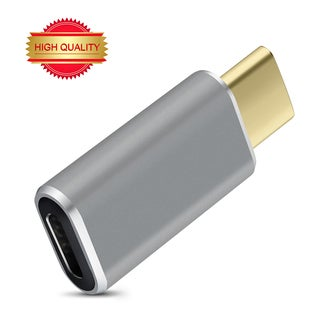 VicTec Reversible Design USB Type-C (Male) to Micro USB (Female) Convert Connector Adapter - Grey