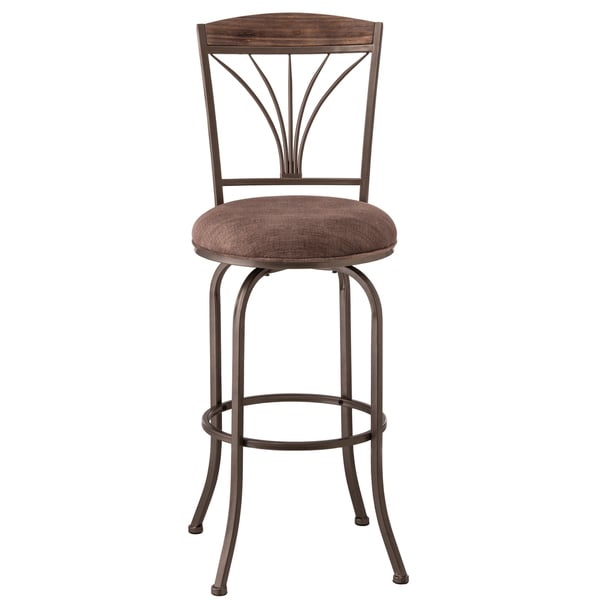 Shop Cresmont Metal And Wood Upholstered Bar Stool Free