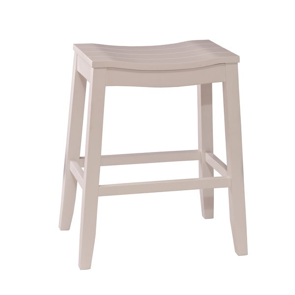 Fiddler White Finish Backless Bar Stool Free Shipping