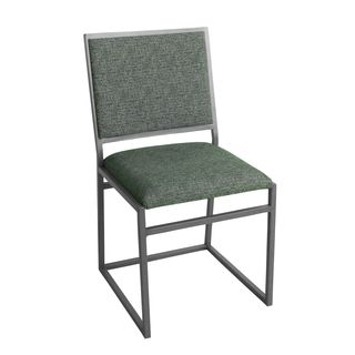 HomePop Grey Metal Dining Chair with Slate Grey Finish