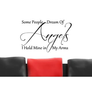 Some People Dream of Angels quote Wall Art Sticker Decal