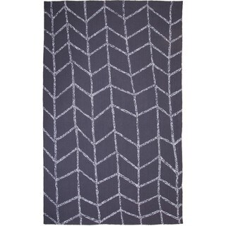 M.A.Trading Hand-tufted Chinese Shadow Dark Grey Rug (8' x 10')