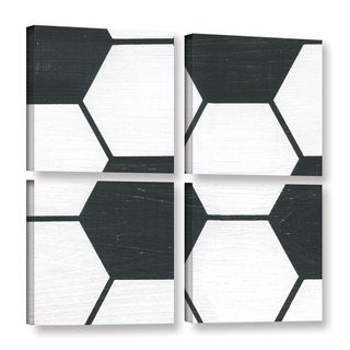 Alli Rogosich's 'Soccer' 4 Piece Gallery Wrapped Canvas Square Set