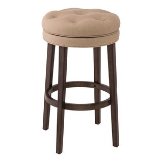 Krauss Stone Linen Upholstered Swivel Bar Stool