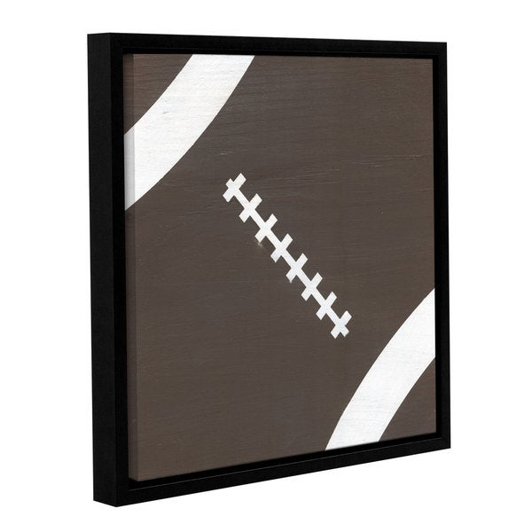 Alli Rogosich's 'Football' Gallery Wrapped Floater-framed Canvas