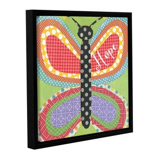 Alli Rogosich's 'Butterfly' Gallery Wrapped Floater-framed Canvas