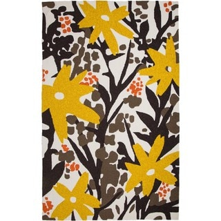 M.A.Trading Hand-tufted Chinese Bloom Brown/Gold Rug (9' x 12')