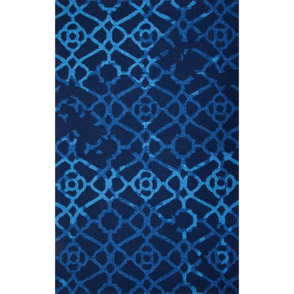 M.A.Trading Hand-tufted Chinese Heritage Blue Rug (9' x 12')