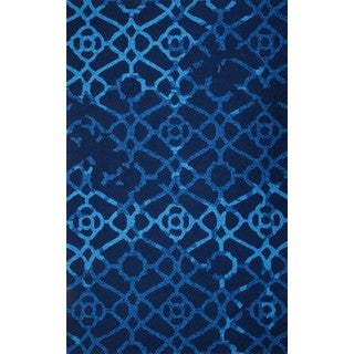 Hand-tufted Chinese Heritage Blue Rug (9' x 12')