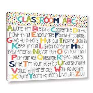 Alli Rogosich's 'Classroom Rules' Gallery Wrapped Canvas