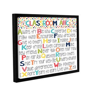 Alli Rogosich's 'Classroom ABC's' Gallery Wrapped Floater-framed Canvas