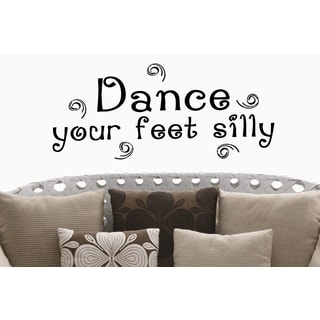 Beautiful quote Dancing is like Dreaming with your Feet! Wall Art Sticker Decal