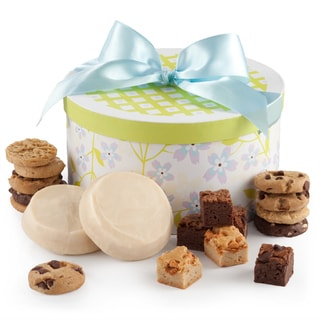 Mrs. Fields Spring Round Ribbon Box with Frosted Cookies