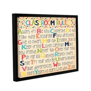 Alli Rogosich's 'Classroom Rules 2' Gallery Wrapped Floater-framed Canvas