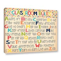 Alli Rogosich's 'Classroom Rules 2' Gallery Wrapped Canvas - multi