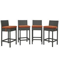 Stopover All Weather Cushioned Bar Stools (Set of 4)