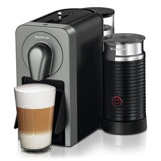 Nespresso Prodigio Espresso Machine (Titan) with Smartphone App Connectivity + Milk Frother