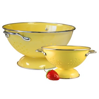 Reston Lloyd Colander Set with 1 and 3-quart in Lemon