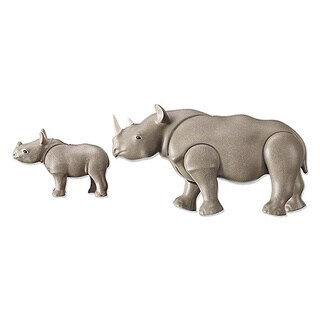 Playmobil Rhino with Baby Building Kit
