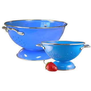 Reston Lloyd Colander Set with 1 and 3-quart in Azure
