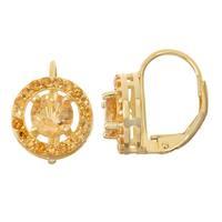 Gioelli Goldplated Silver Citrine Leverback Earrings