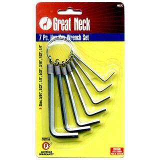 Great Neck HKR7C Hex Keys On Ring Standard 7 Piece Set