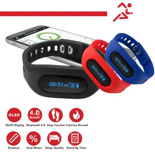 TKO 3-in-1 Interchangeable Bluetooth Activity Tracker TK9006