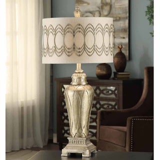 Crestview Collection 26-inch Antique Wood Table Lamp