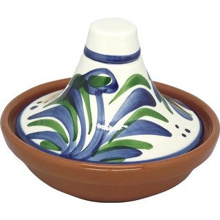 Reston Lloyd Eurita Terra Cotta Mini Tagine 1/2-cup Sauce Side Dish with Malaga Pattern (Set of 2)
