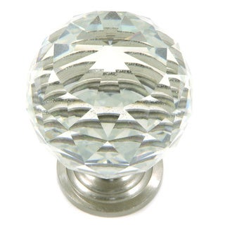 Clear Crystal and Satin Nickel Cabinet Knob (Pack of 5)