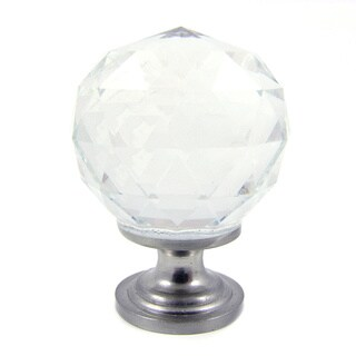 Clear Crystal and Satin Nickel Cabinet Knob (Pack of 25)