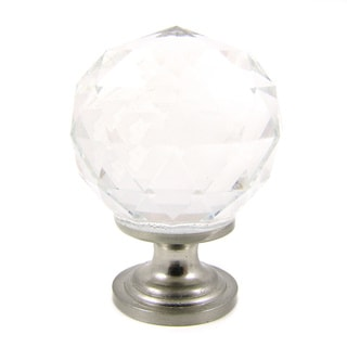 Clear Crystal and Satin Nickel Cabinet Knob (Pack of 10)