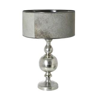 Urban Designs Tallinn Nickel And Natural Cowskin Fur Table Lamp