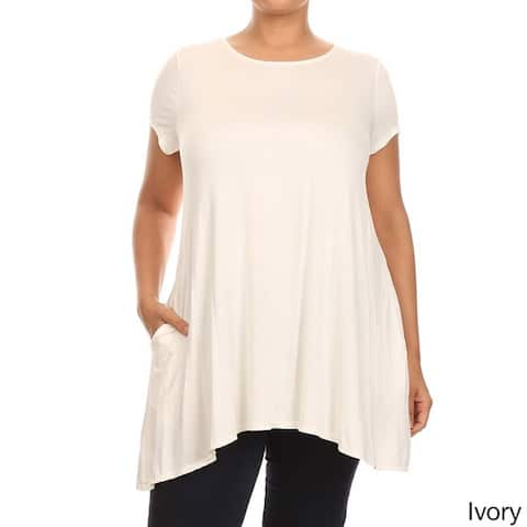 MOA Collection Plus Size Solid Top