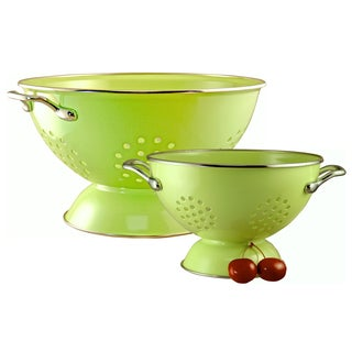 Reston Lloyd Colander Set/ 1.5-quart and 5-quart / Lime