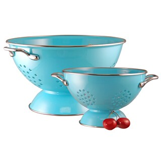 Reston Lloyd Colander Set/ 1.5-quart and 5-quart / Turquoise
