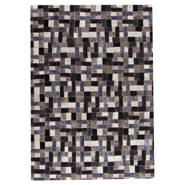 Hand-tufted Indo Puzzle Grey Rug (7'10 x 9'10)