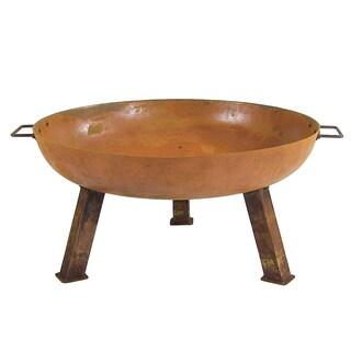 Sunnydaze Rustic Cast Iron Fire Pit Bowl - Orange